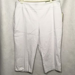 Dana Buchman White Secretly Slimming Capri Pants
